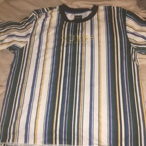 Vintage striped Guess T-Shirt Mens Large